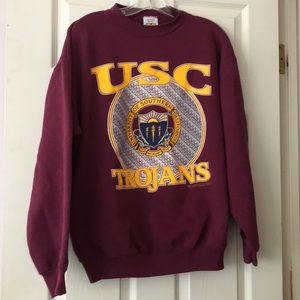 USC Trojans Burgundy Crewneck Sweater